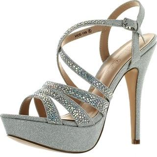 De Blossom Womens Vice-159 Party Dressy Heels Sandals