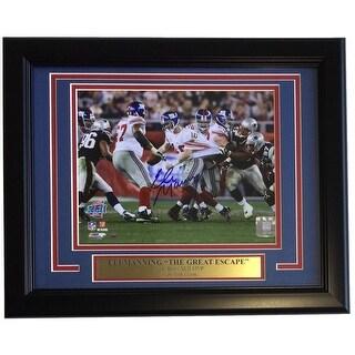 Eli Manning Signed Framed 8x10 New York Giants Super Bowl Escape Photo Steiner