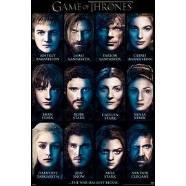 ''Game of Thrones: Cast of Characters'' by Anon Movie & TV Posters Art Print (36 x 24 in.)