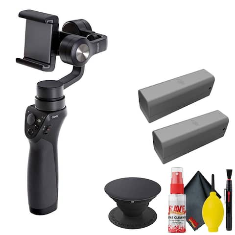 DJI Osmo Mobile Gimbal - POPSOCKET Black - Battery x2 - Osmo Pop Socket A Set 2