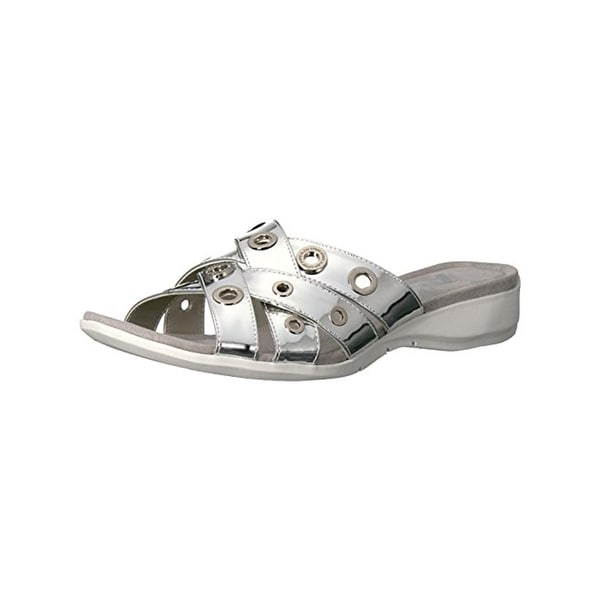 Anne Klein Sport Womens Kandis Slide Sandals Open Toe Grommet