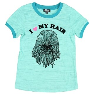 Star Wars Big Girls' Chewbacca I Love My Hair T-Shirt Wookie Movie Character Tee