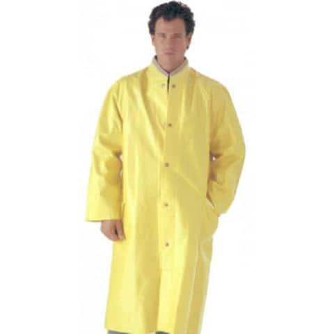 """Tingley C53217-2X Raincoat with Detachable Hood, Yellow, XXL, 48"""""""