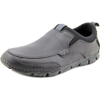 Rockport Rocsports Lt2 Moc Slip Men Round Toe Leather Black Loafer