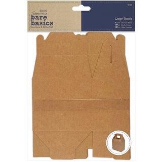 """Papermania Bare Basics Flat Kraft Boxes 4/Pkg-15""""X10""""X6.5"""" Assembled"""