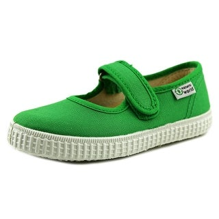 Natural World Mercedes Youth Round Toe Canvas Green Walking Shoe