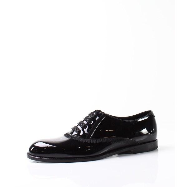 Bottega Veneta NEW Black Womens Shoes 9.5M Patent Leather Oxford
