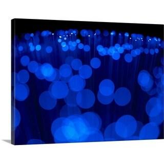 Premium Thick-Wrap Canvas entitled Blue Optical Cables