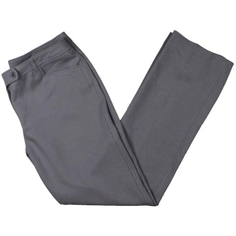 Anne Klein Womens Straight Leg Pants Business Professional - Carbon Grey