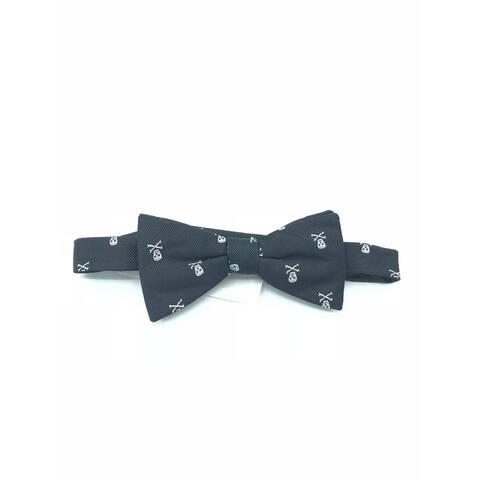 Countess Mara Men's Skull Pre Tied Bow tie Black - one size