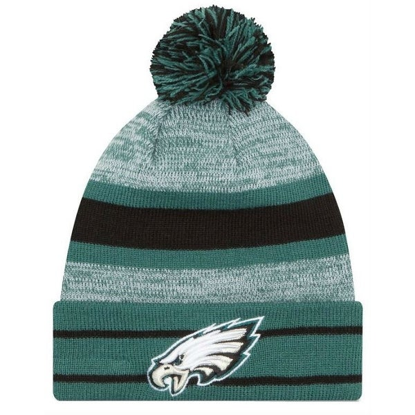size 40 0421a e48d3 Shop New Era 2019 NFL Philadelphia Eagles Cuff Pom Knit Hat Beanie Stocking  Winter - Free Shipping On Orders Over  45 - Overstock - 27994375