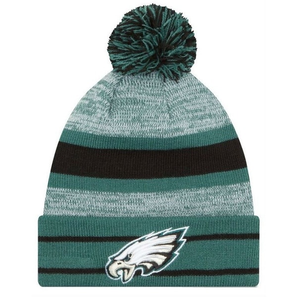 size 40 a914f ea8ff Shop New Era 2019 NFL Philadelphia Eagles Cuff Pom Knit Hat Beanie Stocking  Winter - Free Shipping On Orders Over  45 - Overstock - 27994375