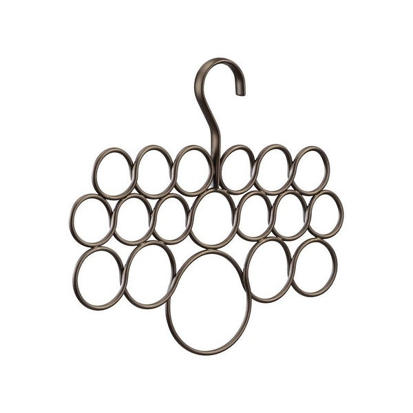 InterDesign 24981 Axiz Scarf Holder, 18 Holes, Bronze finish