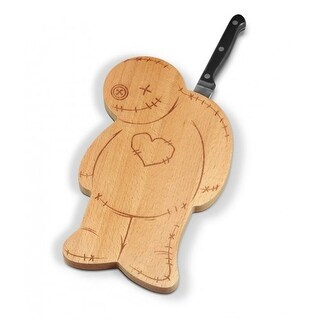 Fred OUCH! Voodoo Wood Cutting Board with Knife