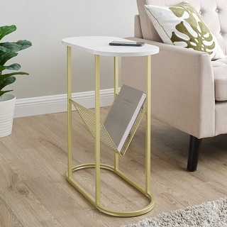 Link to Silver Orchid Oblong Magazine Rack Side Table Similar Items in Living Room Furniture