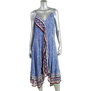 French Connection Womens Sheer Printed Sundress