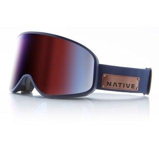 Native Eyewear 2017 Tenmile Ski Goggle - Serve & Protect Frame/Blue Mirror Lens - 411 644 002