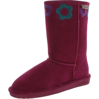 Bearpaw Girl's Jessie 1427Y Suede Boots - violet - 4 m us big kid