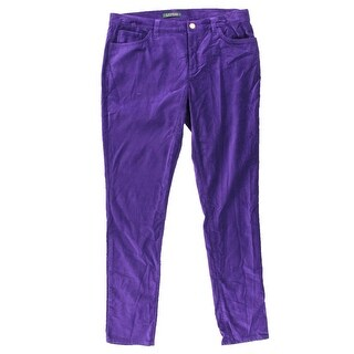 Ralph Lauren Womens Velour Stretch Skinny Pants - 12