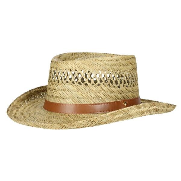 Gambler Straw Hat: Shop Dorfman Pacific Rush Straw Lightweight Gambler Hat