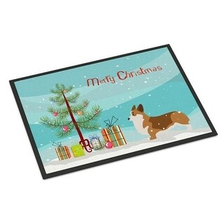 Carolines Treasures BB2938JMAT Corgi Merry Christmas Tree Indoor or Outdoor Mat 24 x 36