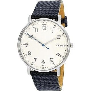 Skagen Men's Signatur Blue Leather Quartz Fashion Watch