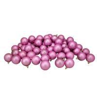 """60ct Bubblegum Pink Shatterproof Matte Christmas Ball Ornaments 2.5"""" (60mm)"""