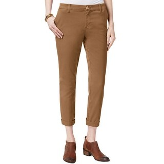 Tommy Hilfiger Womens Hampton Stretch Slim Chino Pants 6 Caramel Brown