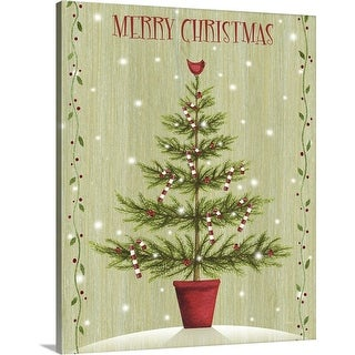 """Merry Christmas"" Canvas Wall Art"