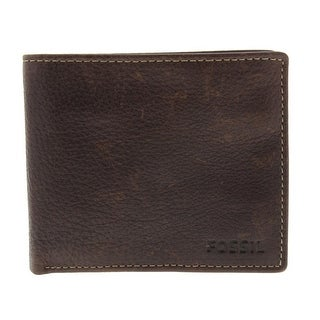 Fossil Mens Lincoln Cow Hide Card Slots Bifold Wallet