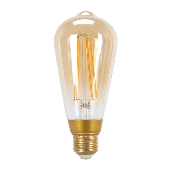 60W Equivalent Vintage Edison Dimmable LED Light Bulb, E26 - Amber. Opens flyout.