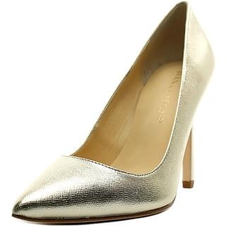 Ivanka Trump Carra Women Pointed Toe Leather Gold Heels