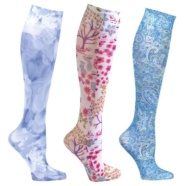 8f210e7e3 Shop Women s Moderate Compression Wide Calf Knee High Support Socks - 3 pair  - On Sale - Free Shipping On Orders Over  45 - Overstock - 15929261