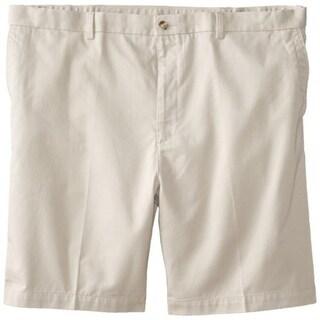 John Henry Mens Big & Tall Twill Flat Front Khaki, Chino Shorts - 44