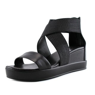 French Connection Pelle   Open Toe Leather  Platform Sandal