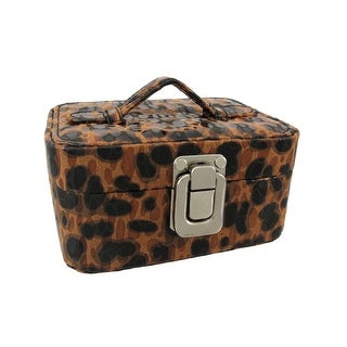 Small Brown Leopard Print Travel Jewelry Chest
