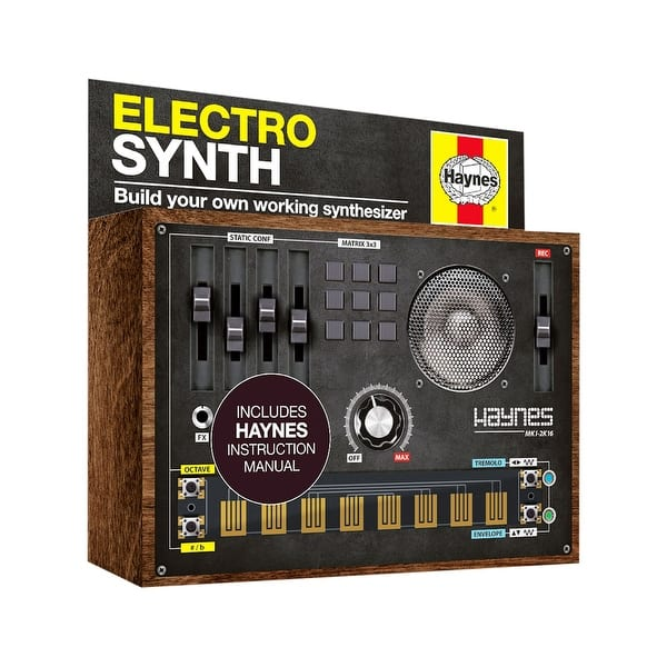 Shop Black Friday Deals On Haynes Retro Synthesizer Kit Build Your Own Working 1980s Style Synth Diy Electronics Stem Activity Craft Brown On Sale Overstock 28520379
