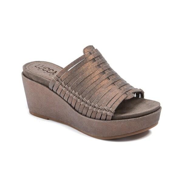 Lucca Lane Larissa Women's Sandals & Flip Flops Brushed Pewter