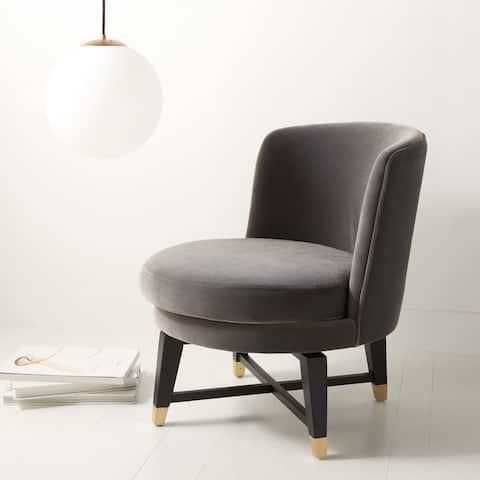 "Safavieh Couture Trinity Swivel Accent Chair - 24"" W x 26.8"" L x 26"" H"