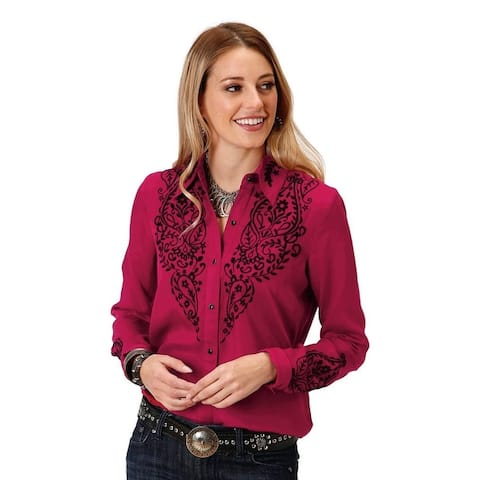 Roper Western Shirt Womens L/S Floral Embroidery