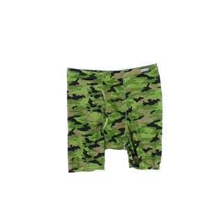 Hanes NEW Military Green Mens Size Large L Camo Boxer Brief Underwear