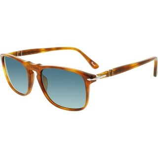 Persol Men's Polarized PO3059S-96/S3-54 Brown Square Sunglasses