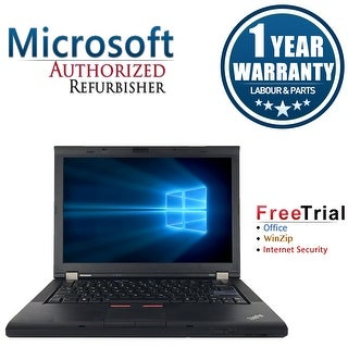 "Refurbished Lenovo ThinkPad T410 14.1"" Laptop Intel Core I5 520M 2.4G 4G DDR3 160G DVD Win 10 Professional 64 1 Year Warranty"