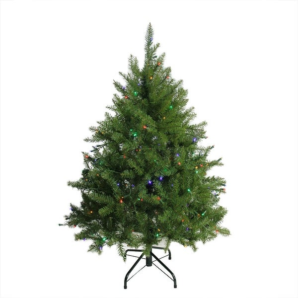 Multi Color Pre Lit Christmas Trees: Shop 4' Pre-Lit Northern Pine Full Artificial Christmas