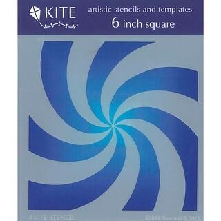"""Judikins Kite Stencil 6"""" Square-Pinwheel"""