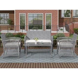 Link to 4Pcs Outdoor Patio Furniture Set Table Chair Sofa Cushioned Seat Similar Items in Outdoor Sofas, Chairs & Sectionals