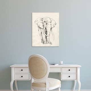Easy Art Prints Jennifer Goldberger's 'Elephant Portrait II' Premium Canvas Art