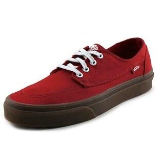 Vans Brigata Men Round Toe Canvas Red Sneakers