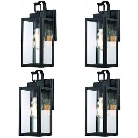 """4 Pack 1-Light Outdoor Wall Sconce - 5""""x6.7""""x13.78"""""""