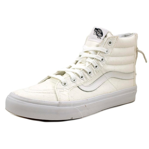 f90e76a6d1ff8e Shop Vans Sk8-Hi Slim Zip Women Leather White Fashion Sneakers ...